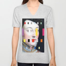 Portrait With A Spectrum 4 Unisex V-Neck