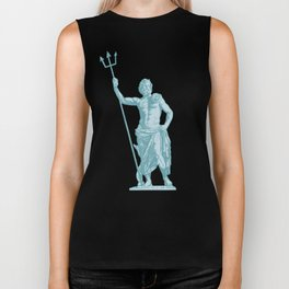 Poseidon OCEAN BREEZE / All hail the god of the sea Biker Tank