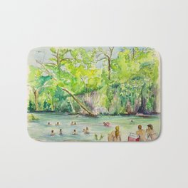 Krause Springs - historic Texas natural springs swimming hole Bath Mat