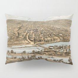 Vintage Pictorial Map of Appleton WI (1874) Pillow Sham