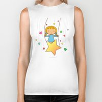 starry night Biker Tanks featuring Starry Night by Jazmin Cruz