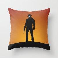 django Throw Pillows featuring Django by Nick Kemp