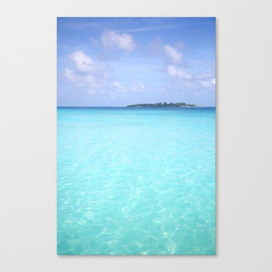 Aqua Water Island Dreams Canvas Print