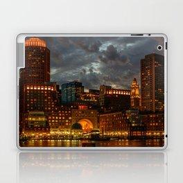 Night at Boston Harbor Laptop & iPad Skin