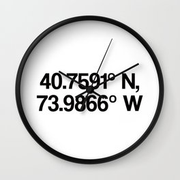 Coordinates of the Richard Rogers Theater - Home of Hamilton: The American Musical Wall Clock