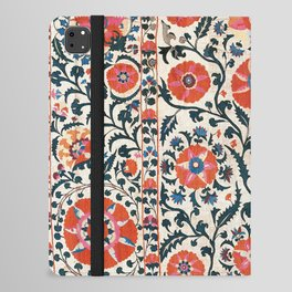 Shakhrisyabz Suzani  Uzbekistan Antique Floral Embroidery Print iPad Folio Case