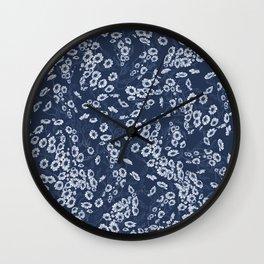 Daisy Dream Navy Wall Clock