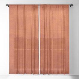 Burnt Orange  Sheer Curtain