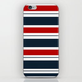 Red, White, and Blue Horizontal Striped iPhone Skin