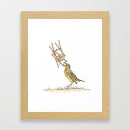 Meadowlark Framed Art Print