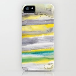 18   | Abstract Minimal Watercolor Painting | 191223 iPhone Case