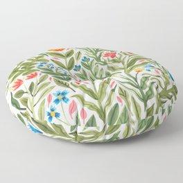 Blooming Flowers Floor Pillow