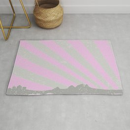 Town Silhouette Abstract Rug