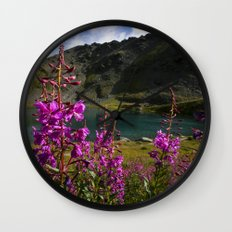 Fireweed - Hatcher Pass Alaska Wall Clock
