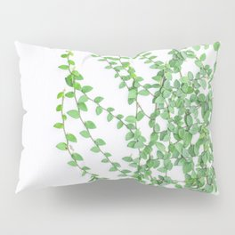 Green creepers climbing the wall Pillow Sham