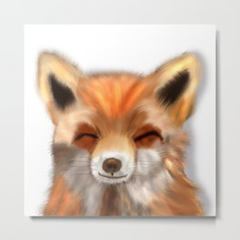 Happy Fox Metal Print