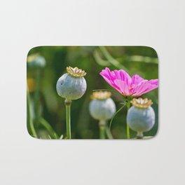 Pink Poppy and Buds Bath Mat