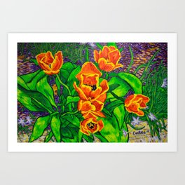 View of Tulips Art Print