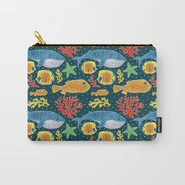 Sea Life Print Carry-All Pouch