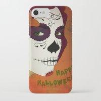 calavera iPhone & iPod Cases featuring Calavera by Eveline