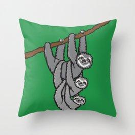 Sloths! Throw Pillow