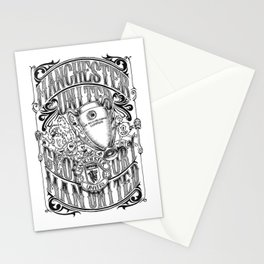 Manchester United Calligraphy and Doodles art Stationery Cards