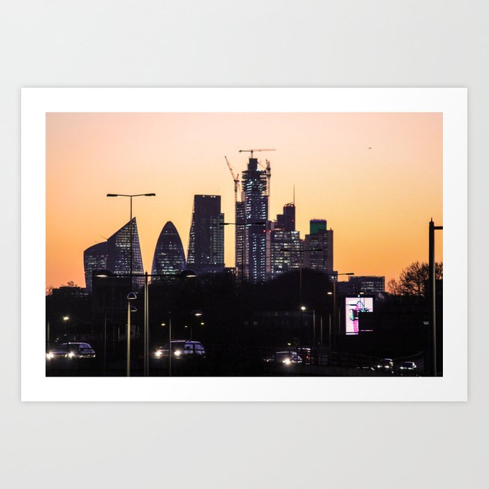 ArtWork London City Sunset Photo Art Art Print