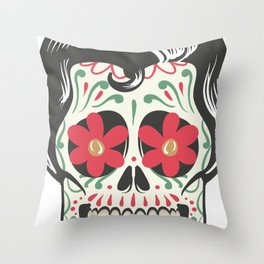 Halloween Mexican-skull Throw Pillow