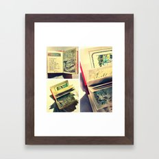 Sunshine on page spines Framed Art Print