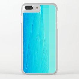 Blue Buffer Clear iPhone Case