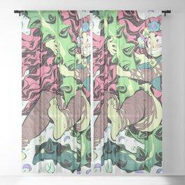 Plant Girl Sheer Curtain