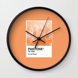 Pantone Series – Coral Reef Wall Clock