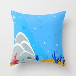 Underwater world. Under the sea Throw Pillow