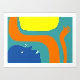 Sun ok a Art Print