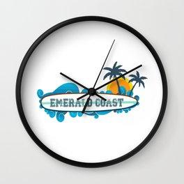 Emerald Coast  - Florida. Wall Clock