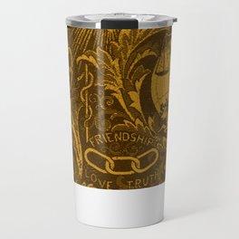 Bronze IOOF Woven Symbolism Tapestry Travel Mug