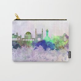 Hyderabad skyline in watercolor background Carry-All Pouch