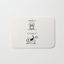 Inhale Exhale Beagle Bath Mat