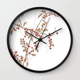 Of red and leaves Wall Clock