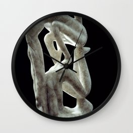 Amnon and Tamar by Shimon Drory Wall Clock