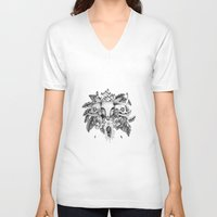 transparent V-neck T-shirts featuring Transparent Temper by Emma LaPine