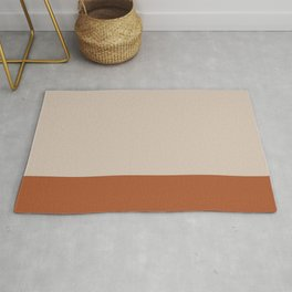 Minimalist Solid Color Block 1 in Putty and Clay Rug