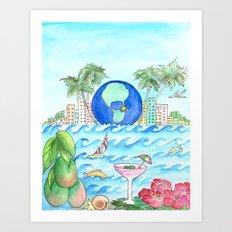 Miami Caliente! Art Print