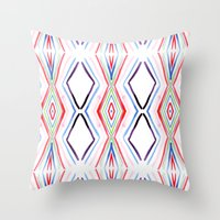 aqua Throw Pillows featuring Aqua by FakeFred