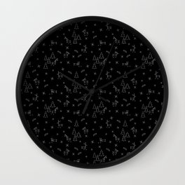 Red Nosed Reindeer Constellations Wall Clock