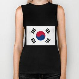 South Korean Flag Biker Tank