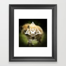 Inkclear ID Square Framed Art Print