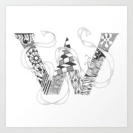 """Zenletter """"W"""" Art Print"""