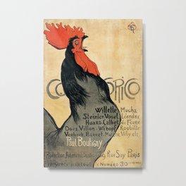 Vintage poster - Cocorico Metal Print