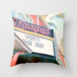 Tropical Kanpai Sports Bar Throw Pillow
